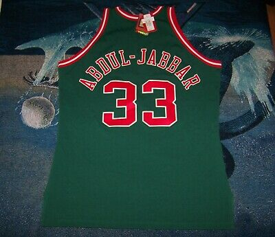 48531210b NEW NWT  260 MILWAUKEE BUCKS KAREEM ABDUL JABBAR 33 Retro NBA Jersey Shirt  Sz 56