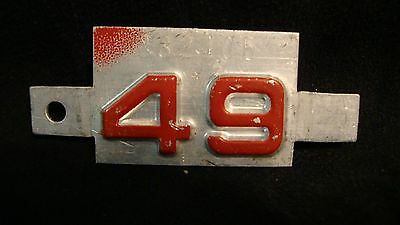 IDAHO? 1949 metal license plate tag for 1948 plate unbent