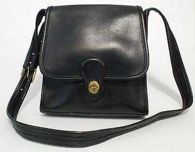 925fe88463c0 Coach Shelburn Black Leather Shoulder Bag Purse 9038 Flap Front Brass Turn  Lock