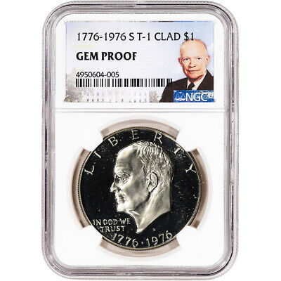 1776-1976-S US Eisenhower Clad Dollar Proof $1 Type 1 - NGC Gem Proof