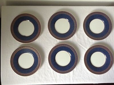 Coventry Fine Porcelain Saucers Set Of 6 Made In Indonesia Blue