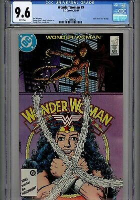 Wonder Woman #9 (DC Comics, 10/87) Origin of new Cheetah~NM+ CGC 9.6 White pgs