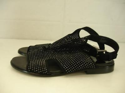 4d8b8528dda Womens 9 M Donald J. Pliner Leah Perforated Sparkle Sandals Black Gladiator  Flat