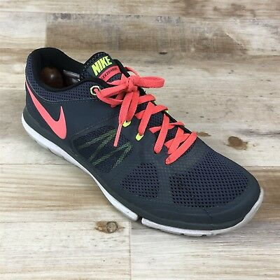 85ff6bdd5c62 NIKE FLEX 8 M Fitsole Athletic Sneakers Shoes Gray Pink Women s ...