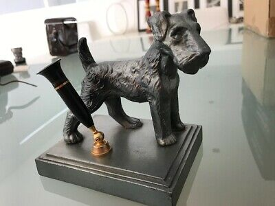Art Deco scotty dog pen holder