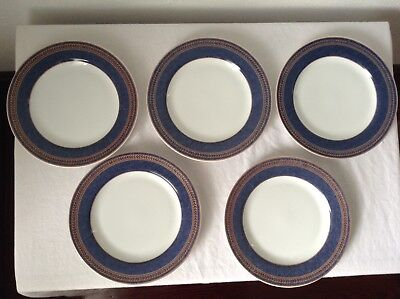 Coventry Fine Porcelain Salad Plates Set Of 5 Made In Indonesia Blue