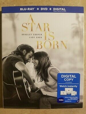 A Star is Born (Blu-ray + DVD + Digital) BRAND NEW! FREE SHIPPING! SEALED!