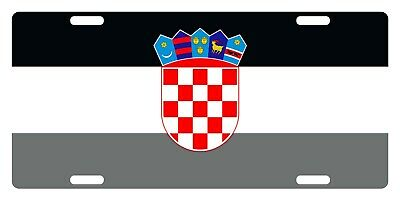 CROATIA Flag Custom License Plate Trobojnica Emblem Wave Version