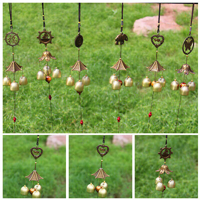 Metal Vintage Copper Wind Chimes Yard Home Garden Decoration Ornament Suitrable