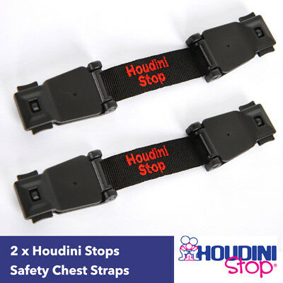 Houdini Stop Twin Pack: Baby Car Seat, High Chair, Stroller Safety Chest Strap