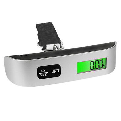 110lb/50kg Portable Travel  LCD Digital Hanging Luggage Scale Electronic Weight~