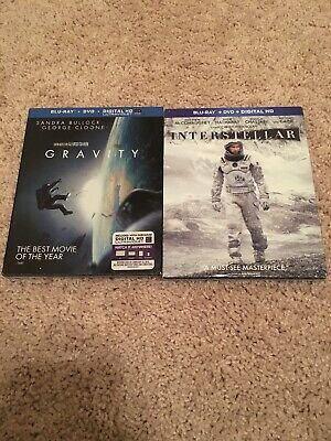 Lot Of 2 Blurays. Gravity And Interstellar.