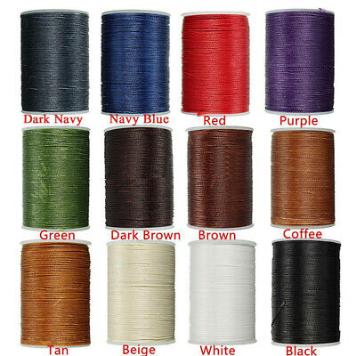 0.8mm Waxed Thread Repair Cord String Sewing Leather Hands Wax Stitching Crafts