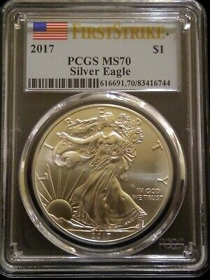 PCGS Graded MS 70 First Strike 2017 American Silver Eagle
