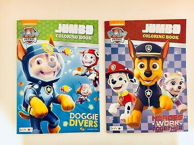 Paw Patrol Lot Of 2 Jumbo Coloring And Activity Books For Children Nickelodeon