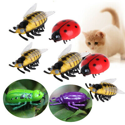 Electric Interactive Simulation Insect Pet Playing Kitten Training Cat Toys