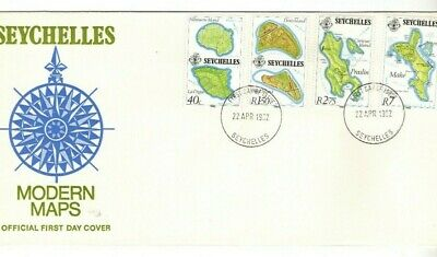 1982 Seychelles - Modern Maps Fdc From Collection O16