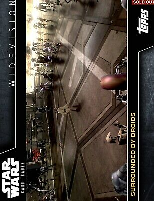 DIGITAL Star Wars Card Trader SURROUNDED BY DROIDS Rare WIDEVISION S2 Insert