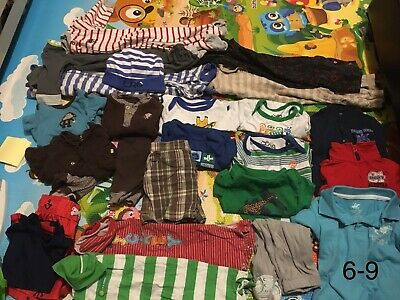 Baby Boy Clothes 6-9 Month Lot 18 pieces Winter Spring