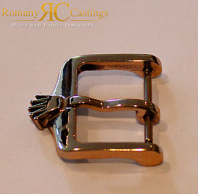 Vintage Rolex Stainless Steel Big Crown Watch Buckle Dipped in 9ct Yellow Gold