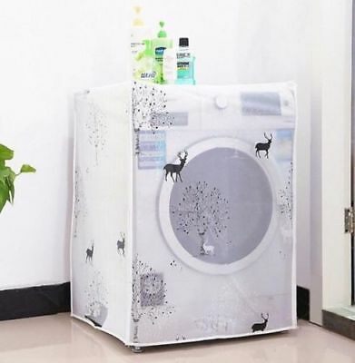 Waterproof Washing Machine Zippered Top Front Dust Cover Guard Protection #