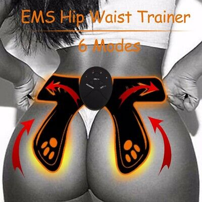 6 Modes Intelligent EMS Fitness Abdominal Hip Muscle Trainer Buttock Lifter UK