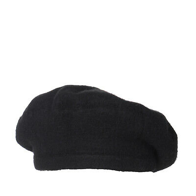 STEFANEL WOOL BERET Cap One Size Black Made in Italy -  11.81  9a49c0b6cf1