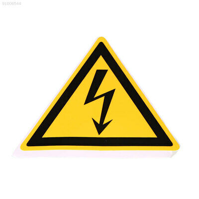 6D46 Waterproof Electrical Shock Safety Warning Stickers Electrical Arc 78x78mm