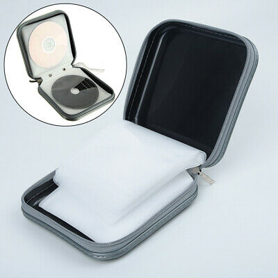 40 CD DVD Carry Cases Disc Storage Holder CD Case Sleeve Wallet Ideal For In-Car