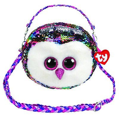 Ty Beanie Babies 95123 Ty Gear Owen Owl Shoulder Bag Sequined