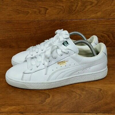 hot sale online ac996 fc76f PUMA HERITAGE BASKET Classic (Men's Size 8.5) Athletic Sneaker Shoes  White/White