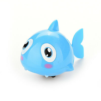 1 Pcs Wind Up Clockwork Kid Baby Toy Gift Shark Bath Swimming Shower Play MC