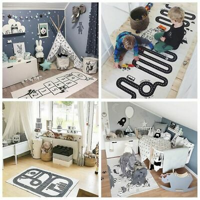Baby Kids Room Decor Crawling Blankets Forest Track Floor Carpet Play Game Mats