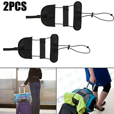 2x Adjustable Tape Belt Tie Carry On Bag Luggage Bungee Travel Suitcase Strap AU
