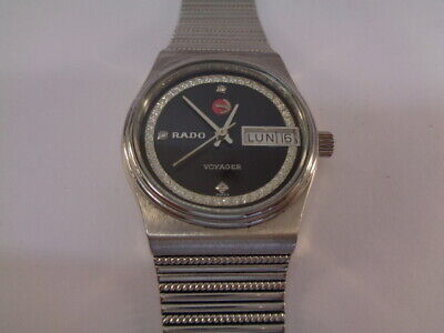 Rado Voyager Automatic Mens Watch Day / Date Ss Boy Size