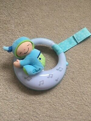 Chicco Goodnight Moon Baby Musical Lullaby Cot Mobile Nightlight blue