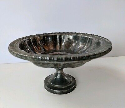 Vintage Oneida Silversmiths Pedestal Candy/Nut Bowl Dish Silver Plated