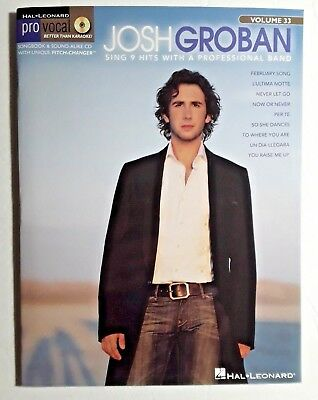 """Josh Groban, """"Pro Vocal Series For Male Singers, Volume 33, CD, sing with a band"""