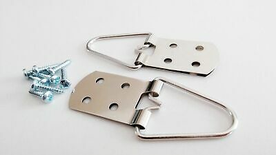 Quality 4 Hole Strap Hangers for Pictures and Mirrors - 10 Pack with Screws