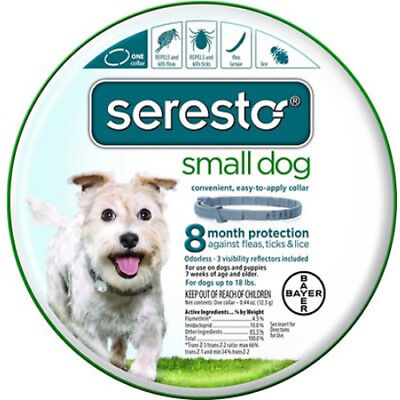 New Seresto Flea & Tick Collar Small Dogs Under 18lbs 8 Mo. protection