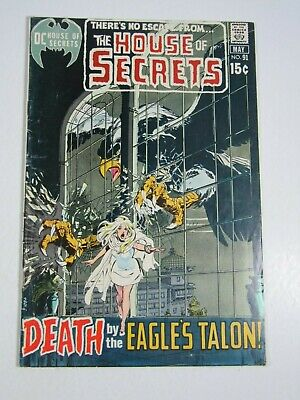 The House of Secrets #91 (DC Comics 1971) Neal Adams cover-Wrightson art VG+