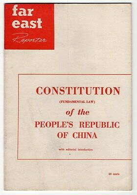 """1954 """"Far East Reporter"""" Booklet: """"Constitution Of People's Republic Of China"""""""
