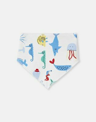 Joules 204673 Reversible Bib ONE in Cream SEA TIME in One Size