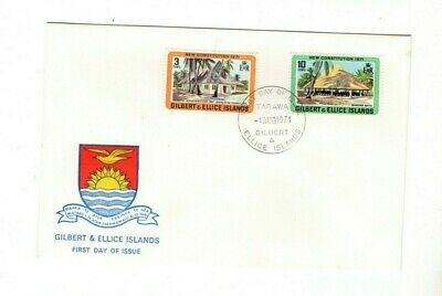 1971 Gilbert Islands - New Constitution Fdc From Collection B23