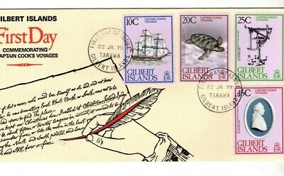 1979 Gilbert Islands - Captain Cook's Voyages Fdc From Collection B30