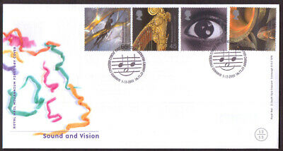 GB 2000 Millennium Projects Sound and Vision First Day Cover Cardiff postmark