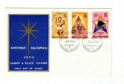 1970 Gilbert Islands - Christmas Fdc From Collection D9