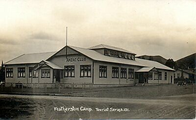 FETHERSTON CAMP ANZAC CLUB c1920 NEW ZEALAND MILITARY RP POSTCARD EXC