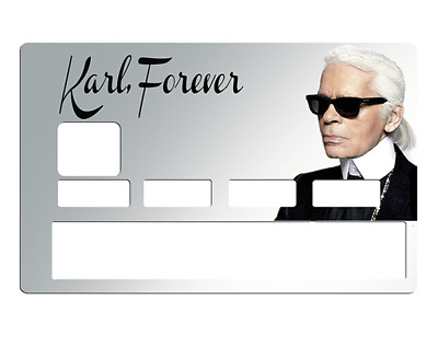 Sticker pour carte bancaire, karl Lagerfeld Forever