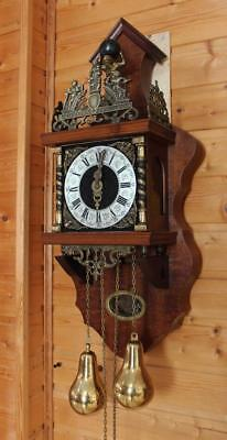 Beautiful  two wone chime Dutch Zaanse Wall Clock  (ZA 14)